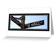 WALL STREET PAINTED Greeting Card