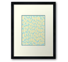 0047 Blond Dots with Complementary Color Framed Print