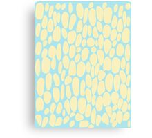 0047 Blond Dots with Complementary Color Canvas Print