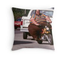 Mini bike overload Throw Pillow