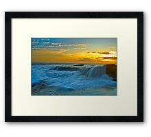 Silky Transition Framed Print