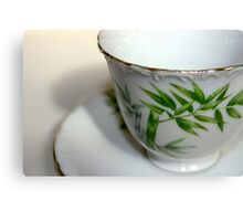 Empty Old Tea Cup Canvas Print