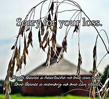 Sorry for your loss... by Greeting Cards by Tracy DeVore