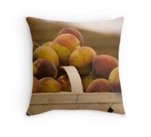 South Carolina Peaches Throw Pillow