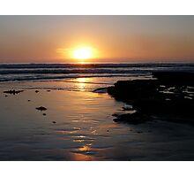 """Surf at Sunset"" Photographic Print"