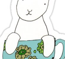 Bunny in a teacup Sticker