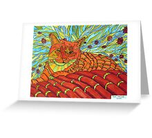 264 - CATNIP DREAMS - DAVE EDWARDS - INDIAN INK & WATERCOLOUR - 2009 Greeting Card