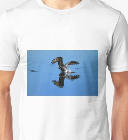 Brown Pelican Dives For Fish Unisex T-Shirt