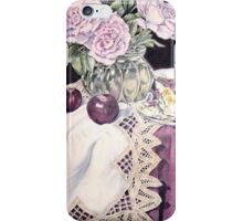 Blue Moon with plums iPhone Case/Skin