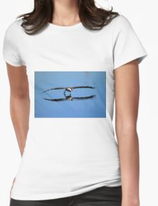 Brown Pelican Skims The Water Womens Fitted T-Shirt