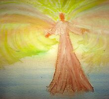 Angel Stirring Healing Waters by Songwriter