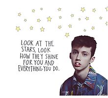 Troye Sivan Picture with Quote by Jkird1