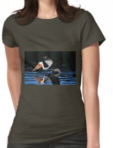 Brown Pelican Water Take Off Womens Fitted T-Shirt