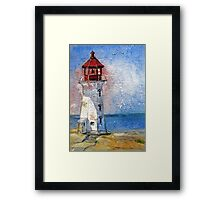 Peggy's Cove Lighthouse, Nova Scotia Framed Print