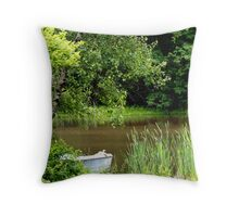 Down at the pond.......can you hear the silence? Throw Pillow