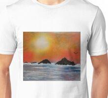 Wintery sunset at sea Unisex T-Shirt