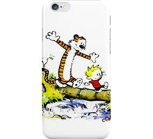Calvin And Hobbes Funny Excited iPhone Case/Skin
