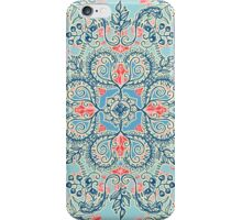 Gypsy Floral in Red & Blue iPhone Case/Skin