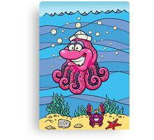Captain Squiddy! Canvas Print