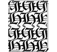 Black Pattern iPad Case/Skin