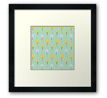 Cute Forest Trees Framed Print