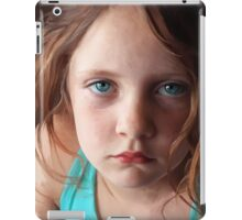 The day she was sick and didn't want to smile iPad Case/Skin