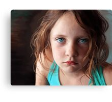 The day she was sick and didn't want to smile Canvas Print