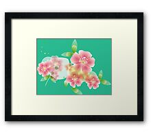 Shining pink flowers Framed Print