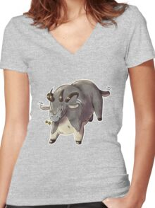 Cute Guild Wars Dolyak Women's Fitted V-Neck T-Shirt