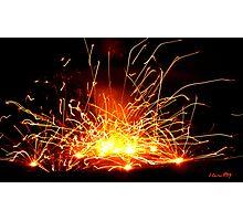Firework Blasts Photographic Print