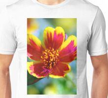 Red Fire Flower Unisex T-Shirt