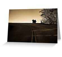 The Lone Road Home Greeting Card