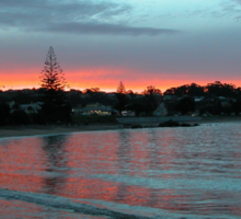 Sunset over Penguin Beach,Tasmania, Australia. Sticker