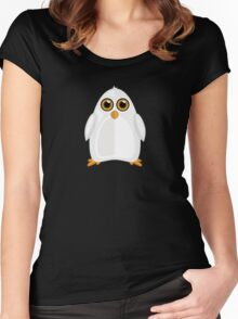White Penguin 2 Women's Fitted Scoop T-Shirt