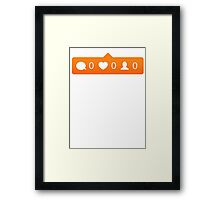 instagram notification Framed Print