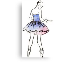 ballerina figure, watercolor illustration Canvas Print