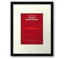 No198 My The Hunt for Red October minimal movie poster Framed Print