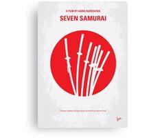 No200 My The Seven Samurai minimal movie poster Canvas Print