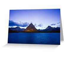 Swiftcurrent Lake Sunrise Greeting Card