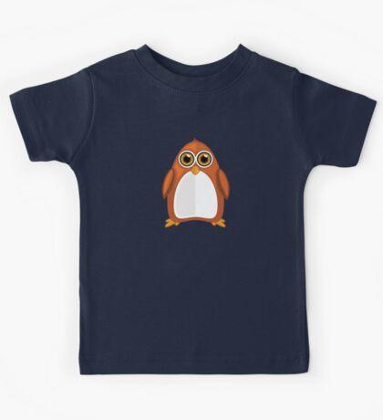 Brown Orange Penguin 2  Kids Tee