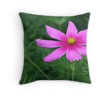 Cosmos in the Garden Throw Pillow