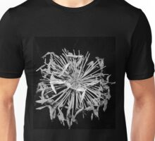 Agapanthus seeds in black and white Unisex T-Shirt
