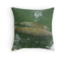 Pair of manatees Throw Pillow
