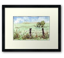 A familiar South African sight Framed Print