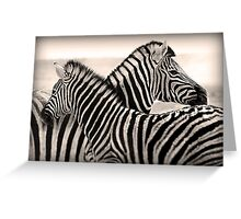 Parallel lines Greeting Card