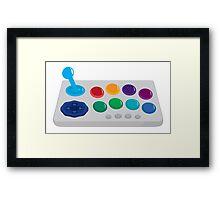 Old School Joystick Control Framed Print