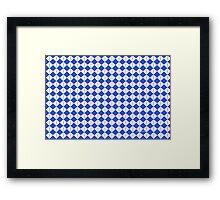 sdd Pattern 3J FFF Blue Framed Print
