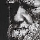 Charles Darwin by burntwoodstudio