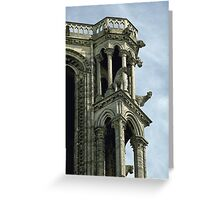 Laon Oxen on tower 19840507 0027 Greeting Card