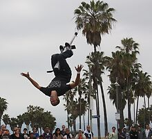 Venice Beach Extreme pogo stick jumping by CaryA